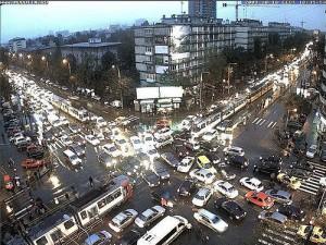 traficul aglomerat din bucuresti